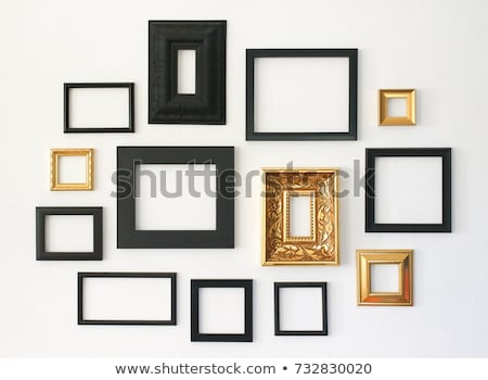 Picture Frame Set Isolated White Background Stock photo © adamson