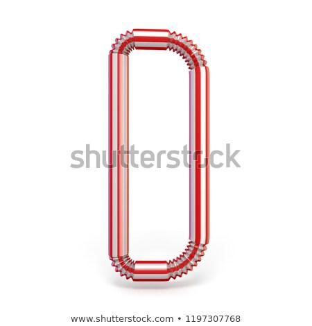 drinken · stro · doopvont · letter · d · 3D · 3d · render - stockfoto © djmilic