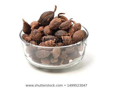 黒 カルダモン 種子 木材 表面 食品 ストックフォト © bdspn