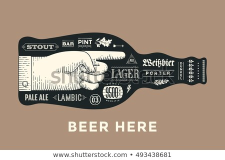 Oktoberfest illustration typographie vintage bois vecteur Photo stock © articular