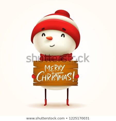 снеговик Рождества изолированный Сток-фото © ori-artiste