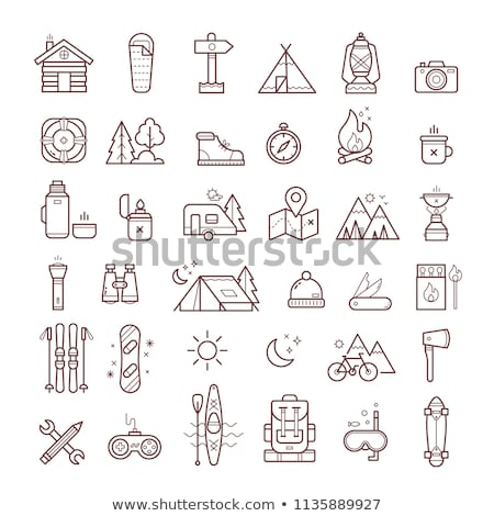 camping stove vector flat icon stock photo © smoki