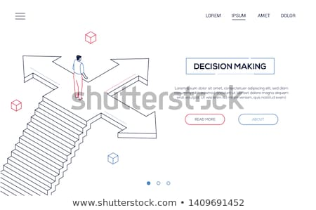 Challenge concept - modern isometric vector web banner Stock photo © Decorwithme