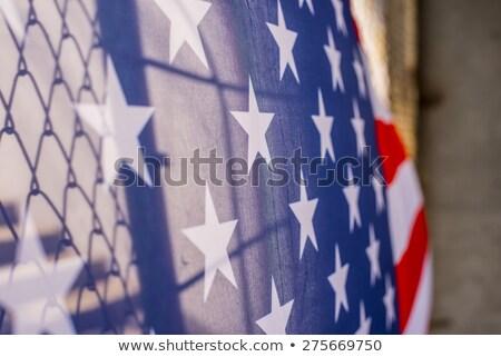 USA · Mexikó · keret · fal · amerikai · biztonság - stock fotó © lightsource