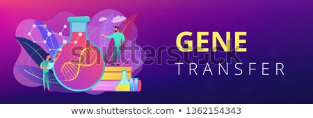 Gene therapy concept banner header. Stock photo © RAStudio