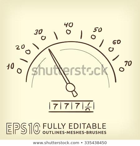Sebességmérő kézzel rajzolt skicc firka ikon sebességhatár Stock fotó © RAStudio