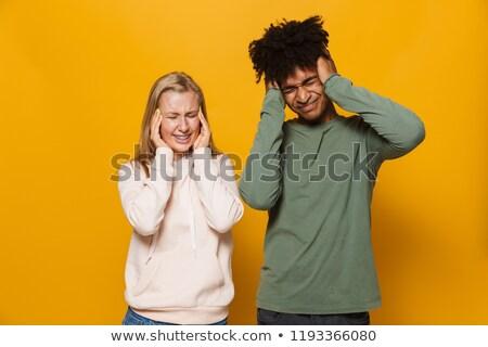 fotó · elégedetlen · pár · férfi · nő · fogászati - stock fotó © deandrobot