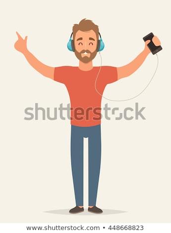 音楽を聴く デザイン スタイル カラフル 実例 白 ストックフォト © Decorwithme