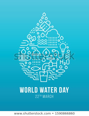 Világ víz nap ital üveg tudatosság Stock fotó © cienpies