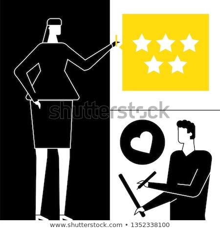 Company testimonials - flat design style colorful illustration Stock photo © Decorwithme
