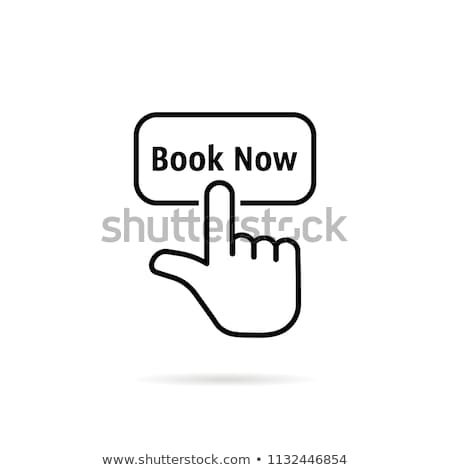 Online előre bejelentkezés szolgáltatások vektor internet foglalás Stock fotó © RAStudio