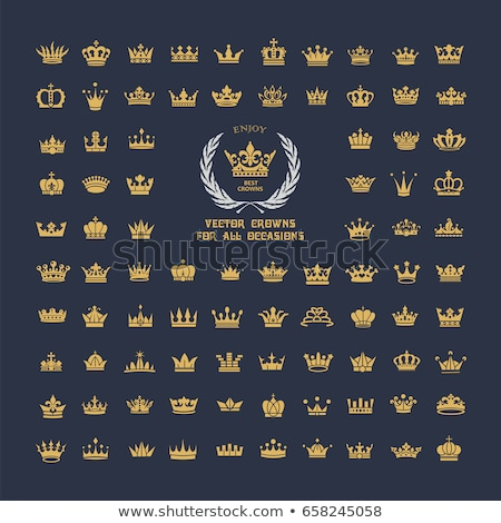 Foto stock: Vector Set Of Crowns