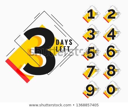 number of days left modern memphis style banner Stock photo © SArts