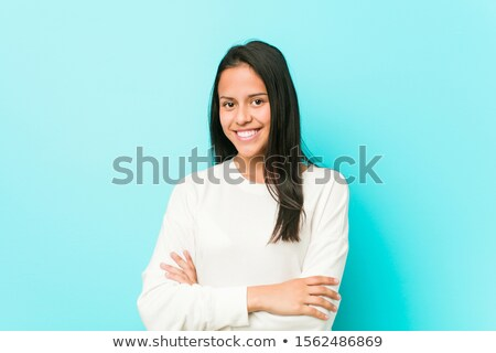 Determined woman with crossed arms Stock photo © filipw