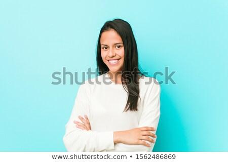 Determinado mujer armas negocios traje Foto stock © filipw