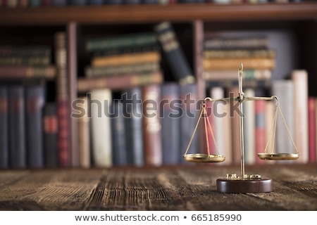 Justice Statue On Shelf At Lawyer Office Stock photo © AndreyPopov