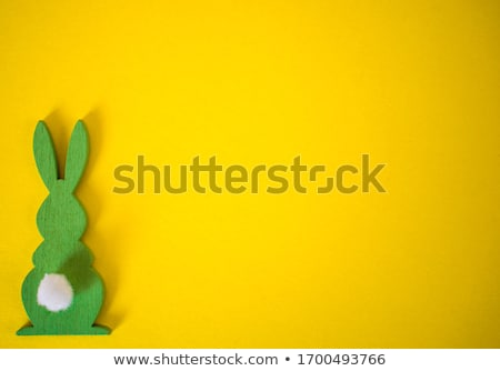 Colorful Happy Easter greeting card with rabbit, bunny Stock photo © marish