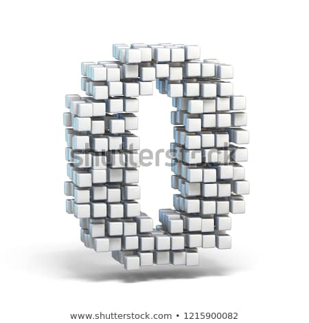 Cube grid Number 0 ZERO 3D Stock photo © djmilic