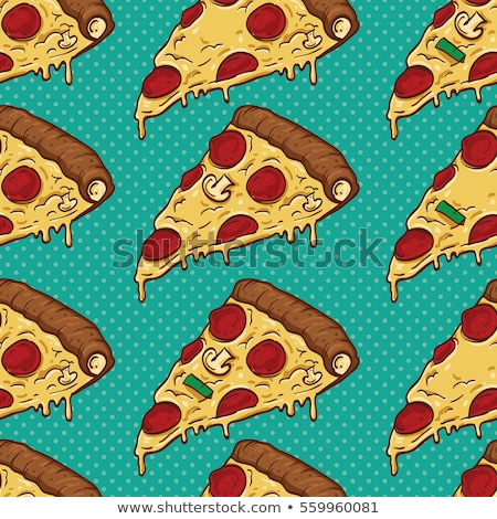Color seamless pattern with salami Stock photo © netkov1