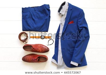 ストックフォト: セット · 男 · 服 · ファッション · ベクトル