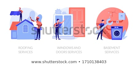 Roofing services concept vector illustration Stock photo © RAStudio