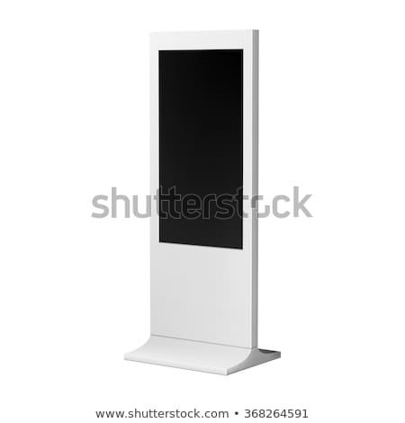 ЖК отображения стоять 3d иллюстрации изолированный белый Сток-фото © montego