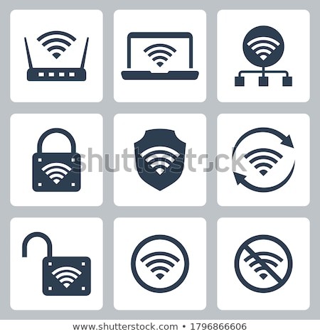 Router related vector glyph icon Stock photo © smoki