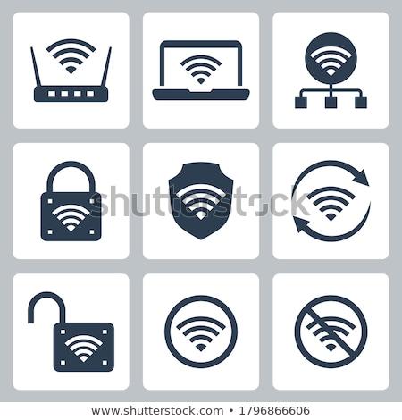 router · icona · bianco · illustrazione · computer · rete - foto d'archivio © smoki