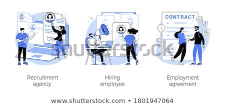 arama · işçi · ikon · işe · alım · ajans · iş - stok fotoğraf © rastudio