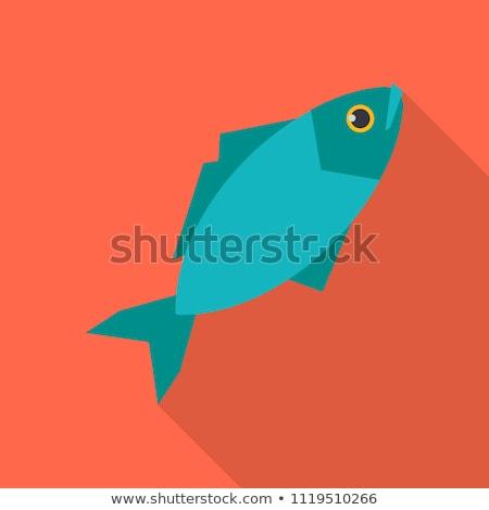 Fishing flat icon Stock photo © smoki