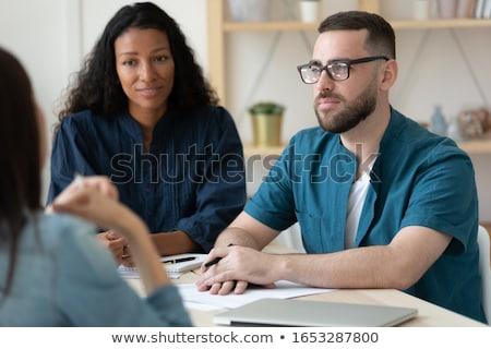 Dolgozik feladat állásinterjú főnök iroda menedzser Stock fotó © robuart