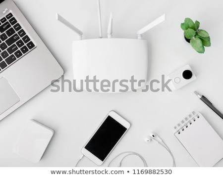 Desktop modem above view Stock photo © vtls