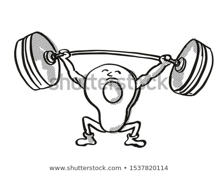 アボカド 健康 野菜 バーベル 漫画 ストックフォト © patrimonio