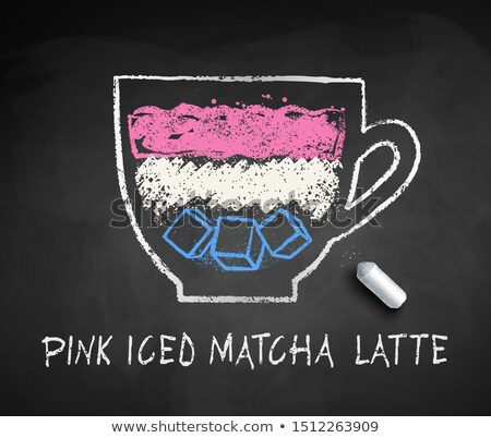 Vector sketch of iced Pink Matcha Latte Stock photo © Sonya_illustrations