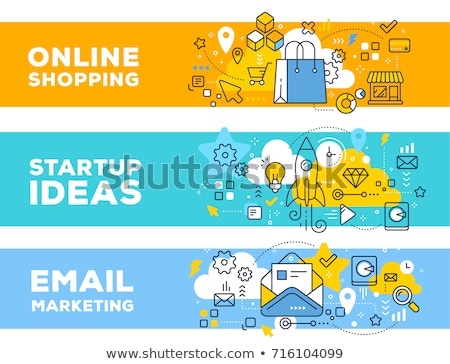 on-line · pagamento · moderno · linha · projeto · estilo - foto stock © decorwithme