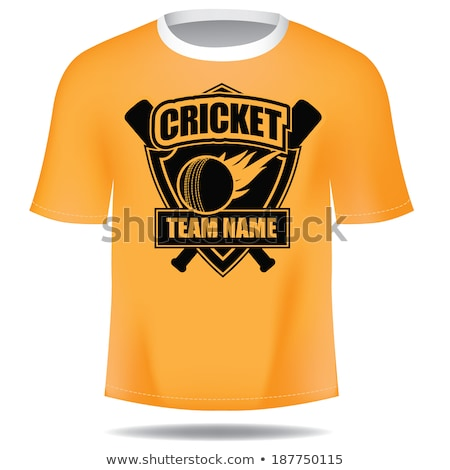 Cricket T-Shirt Icon Vector Outline Illustration Stock photo © pikepicture