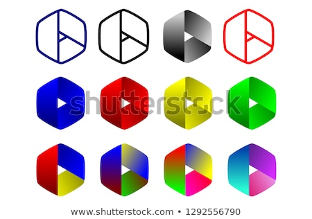 various blue and green abstract icons set 6 stock photo © cidepix