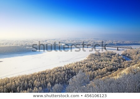 Railroad at winter time Stock photo © AndreyKr