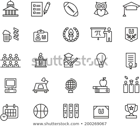 Academy Graduation Diploma Icon Vector Outline Illustration Stock photo © pikepicture