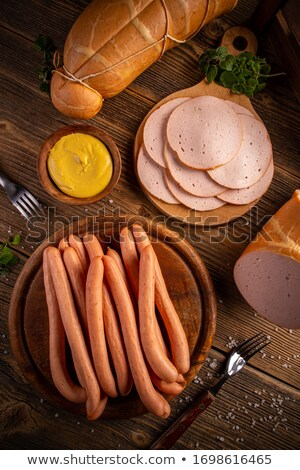 Poultry cold cuts and hot dog sausages Stock photo © grafvision