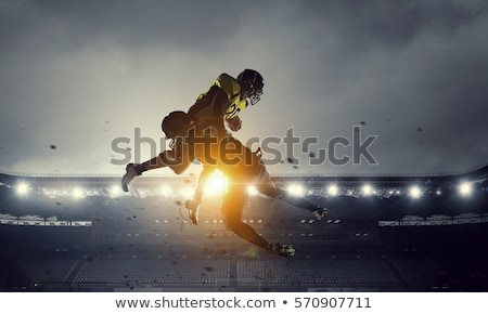 Footballers, Opponents Play in American Football Stock photo © robuart