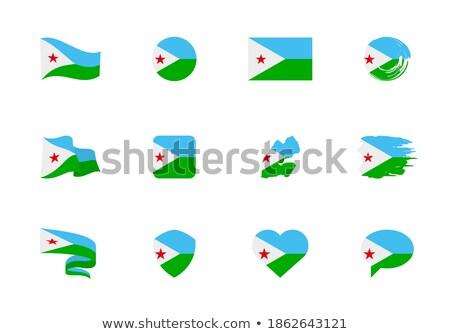 Dżibuti serca ikona banderą wektora sztuki Zdjęcia stock © fotoscool