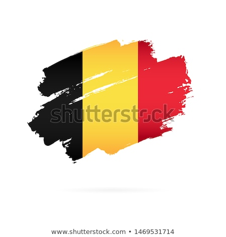 Belçika bayrak beyaz kalp imzalamak fırçalamak Stok fotoğraf © butenkow
