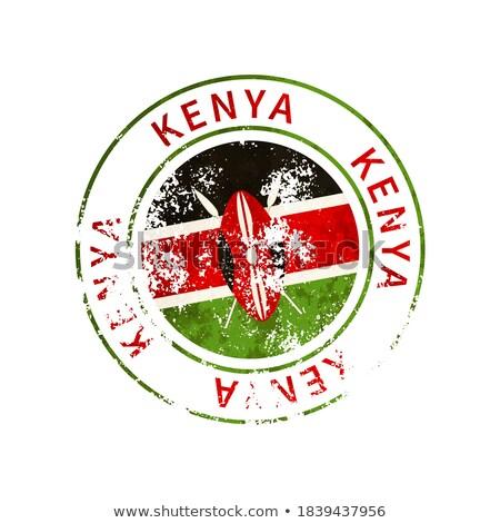 Kenia teken vintage grunge vlag Stockfoto © evgeny89