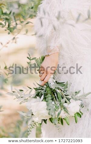 цветы цвести цветочный искусства розовый свадьба Сток-фото © Anneleven