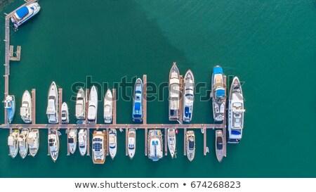 Pier marina popular turista veleiro cais Foto stock © galitskaya