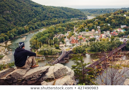 Hiker overlook Harpers Ferry landscape Stock photo © backyardproductions