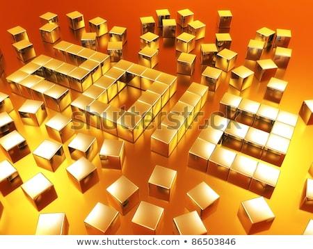 Or cubes 2012 3D blanche texte Photo stock © marinini