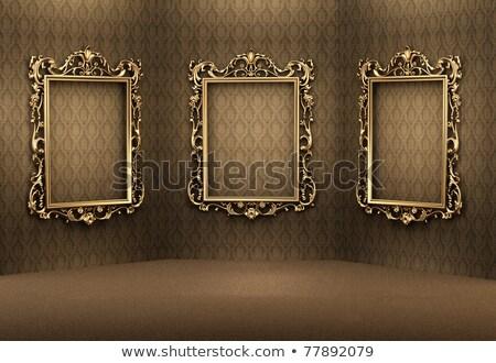 Trois cadres salle d'exposition mur art chambre Photo stock © Paha_L