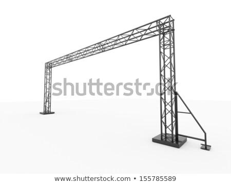 Tentoonstelling uitrusting spotlight metaal frame televisie Stockfoto © vlaru